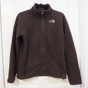 The North Face Brown Fleece Full Zipper Up Jacket